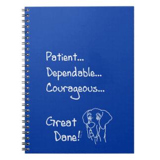 Caderno Espiral Dependable Great Dane