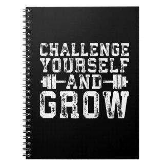 Caderno Espiral Desafie-se e cresça-se - inspirado