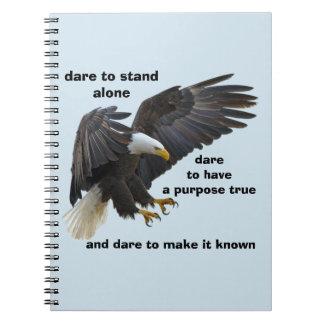 Caderno Espiral Desafio a estar edição sozinha, americana da águia