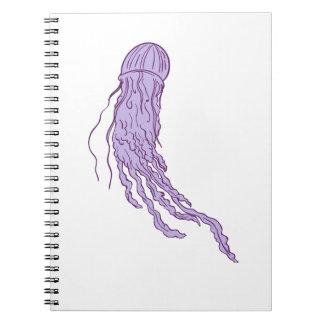 Caderno Espiral Desenho australiano das medusa da caixa