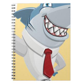 Caderno Espiral desenhos animados do tubarão
