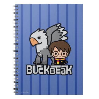 Caderno Espiral Desenhos animados Harry Potter e Buckbeak