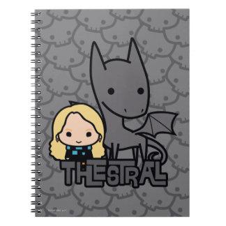 Caderno Espiral Desenhos animados Thestral e arte do caráter de