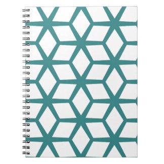 Caderno Espiral Design abstrato do cubo