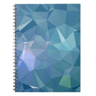 Caderno Espiral Design abstrato & limpo de Geo - maremoto