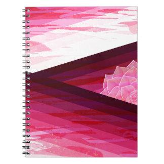 Caderno Espiral Design contemporâneo sereno da flor
