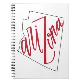 Caderno Espiral Design da tipografia do estado da arizona |