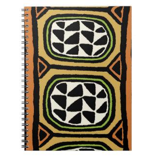 Caderno Espiral Design de matéria têxtil de Kuba do africano