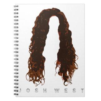 Caderno Espiral Design do cabelo de Josh