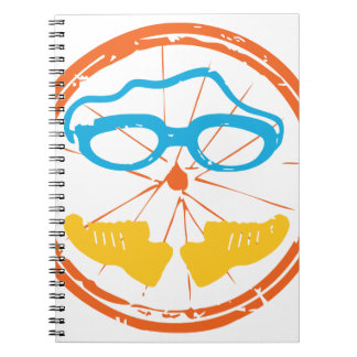 Caderno Espiral Design do divertimento do Triathlon