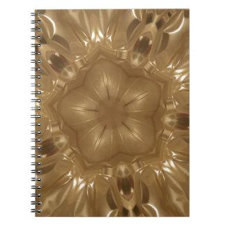 Caderno Espiral Design elegante da estrela do caleidoscópio de
