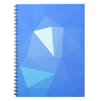 Caderno Espiral Design elegante & limpo de Geo - Cornflower bonito