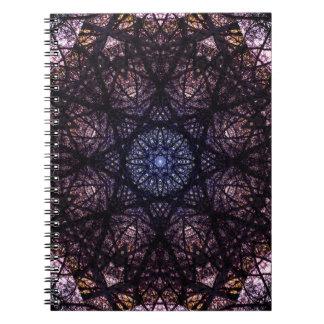 Caderno Espiral Design escuro da mandala