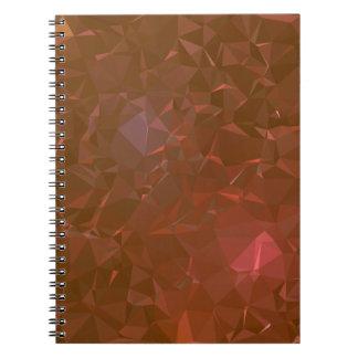 Caderno Espiral Design geométrico elegante & limpo - caverna do
