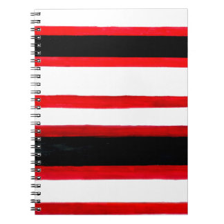 Caderno Espiral Design listrado da abstracção