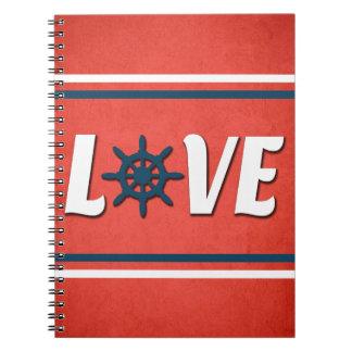 Caderno Espiral Design náutico do amor