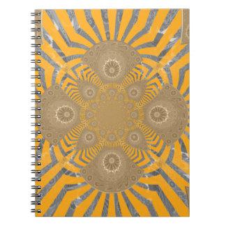 Caderno Espiral Design simétrico surpreendente nervoso bonito do