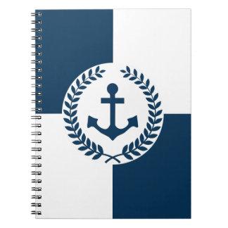 Caderno Espiral Design temático náutico