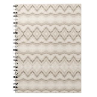 Caderno Espiral Design tribal do teste padrão de ziguezague da