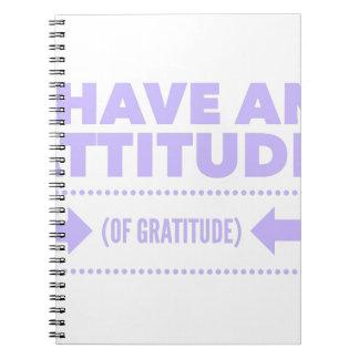 Caderno Espiral Desintoxicação AA da recuperação da gratitude da