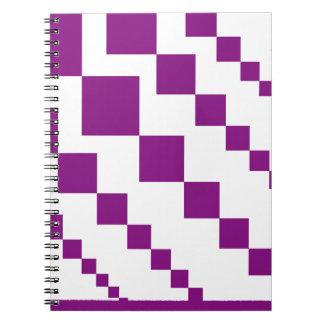 Caderno Espiral Diamantes descendentes roxos
