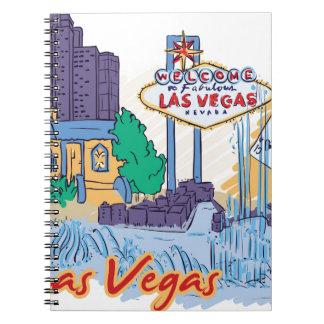 Caderno Espiral Divertimento de Las Vegas em The Sun