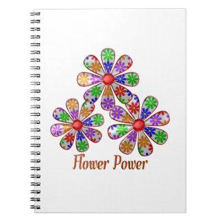 Caderno Espiral Divertimento flower power