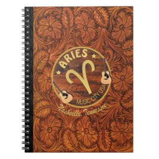 Caderno espiral do Aries do zodíaco de Nashville