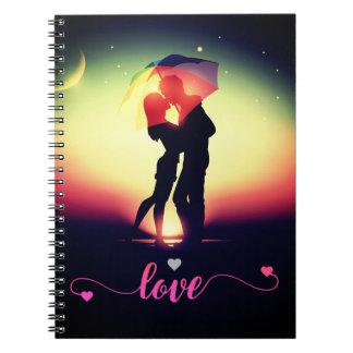 Caderno espiral do beijo Loving romântico do casal