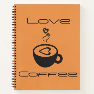 Love Coffee Spiral Notebook