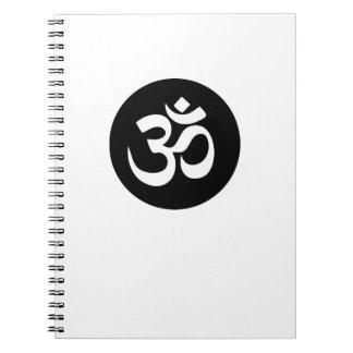 Caderno espiral do círculo do símbolo do OM