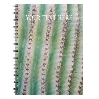 Caderno espiral do close up | do Saguaro