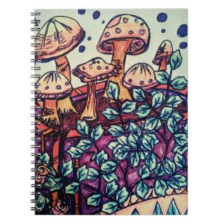 Caderno espiral do cogumelo