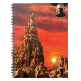 Caderno espiral do deserto