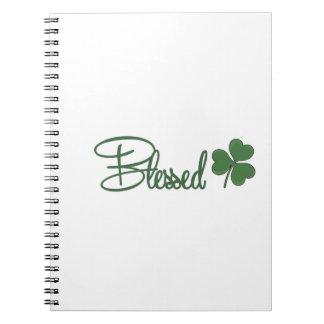Caderno Espiral ☘ do design do dia de St Patrick abençoado