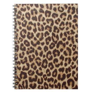 Caderno espiral do impressão do leopardo