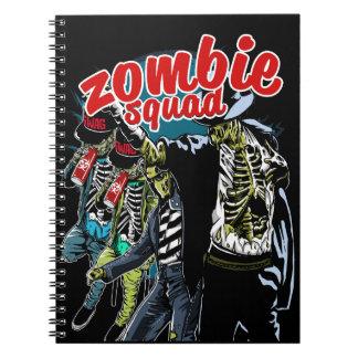 Caderno espiral do pelotão do zombi
