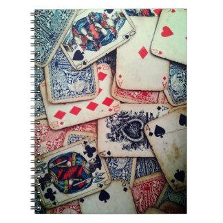 """Caderno espiral do """"póquer"""""""