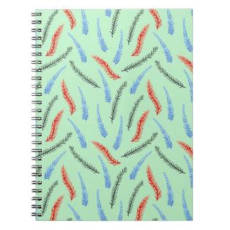 Caderno espiral do ramo