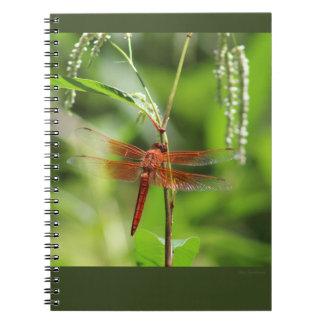 Caderno espiral do Skimmer da chama