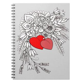 Caderno Espiral Dois corações 2
