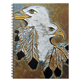 Caderno Espiral Dois Eagles