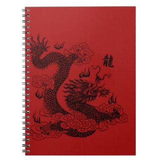 Caderno Espiral Dragão chinês