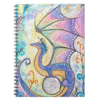 Caderno Espiral Dragão da primavera