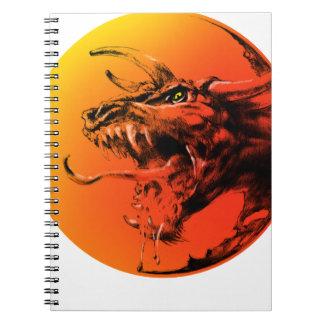 Caderno Espiral Dragão mau