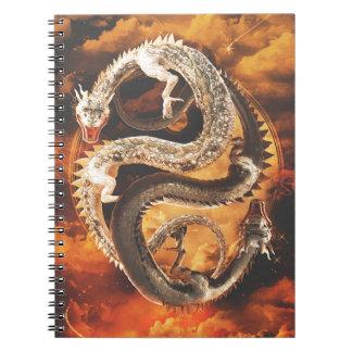 Caderno Espiral Dragões de Yin Yang - caos