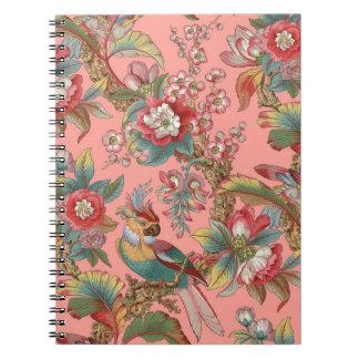 Caderno Espiral Duquesa do ~ do papagaio de Edwardian