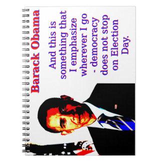 Caderno Espiral E este é algo que eu sublinho - Barack Ob