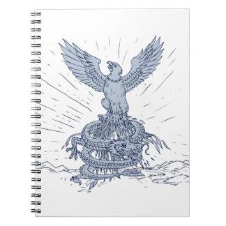 Caderno Espiral Eagle e tiragem das montanhas do dragão