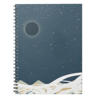 """Caderno Espiral Eclipse da arte de Sun com os """"cobras """""""